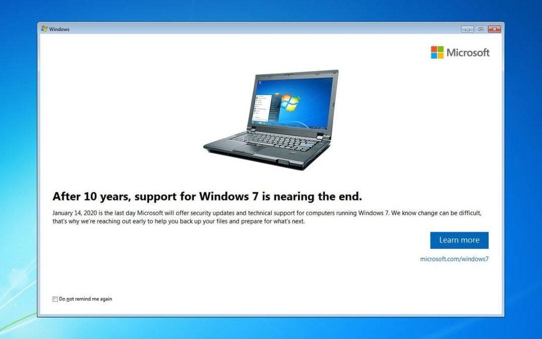 Windows 7 End of Life: What that Means for your Business